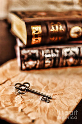 Books And Key Poster by HD Connelly