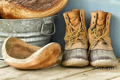 Boots And Bowls Poster by Dawna  Moore Photography