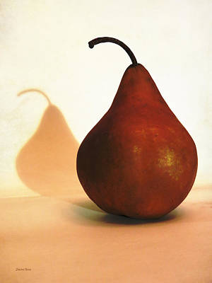 Bosc Pear Sees Its Shadow Poster by Shawna Rowe