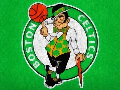 Boston Celtics Canvas Poster by Dan Sproul
