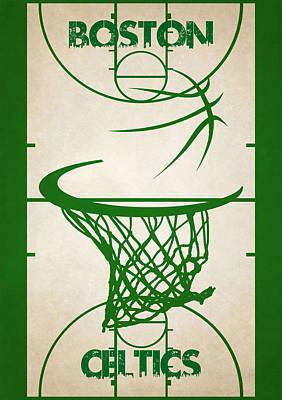 Boston Celtics Court Poster by Joe Hamilton