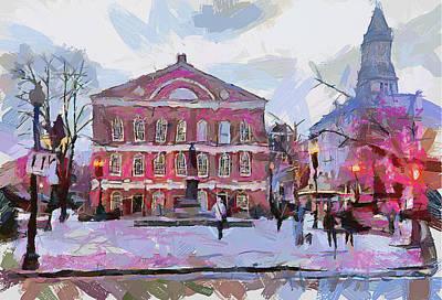 Boston Downtown 11 Poster by Yury Malkov