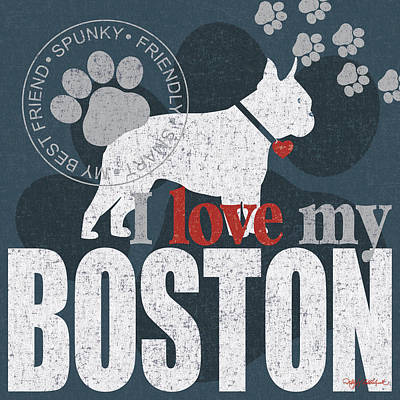 Boston Poster by Kathy Middlebrook