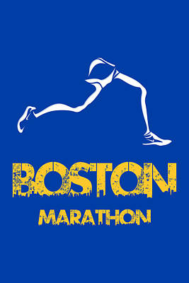 Boston Marathon2 Poster by Joe Hamilton