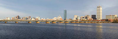 Boston Mass Ave Bridge Panorama Poster by Toby McGuire