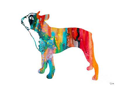 Boston Terrier Poster by Luke and Slavi