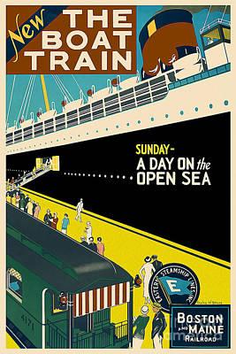 Boston Vintage Travel Poster Poster by Jon Neidert