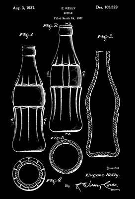 Bottle Patent Poster by Dan Sproul