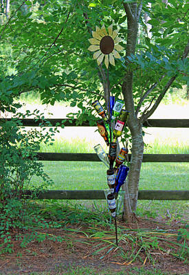 Bottle Tree Poster by Suzanne Gaff