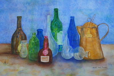Bottles Collection Poster by Anna Ruzsan