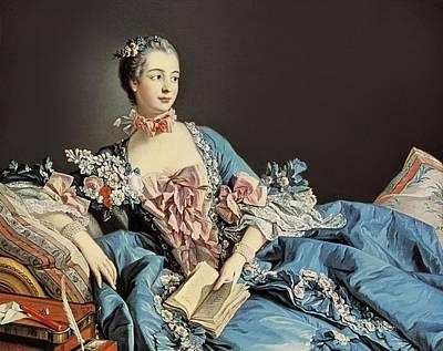 Boucher, Fran�ois 1703-1770. Madame De Poster by Everett