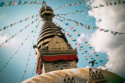 Boudhnath Stupa In Nepal Poster by Raimond Klavins