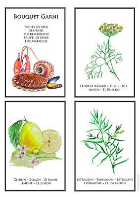 Bouquet Garni Seafood Print Poster by Lydia Meier