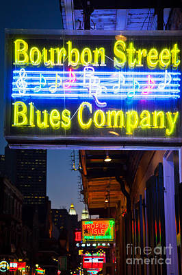 Bourbon Street Blues Company Poster by Inge Johnsson