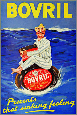 Bovril - Prevents That Sinking Feeling Poster by Charlie Ross