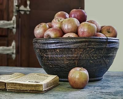 Bowl Of Apples Poster by Nikolyn McDonald