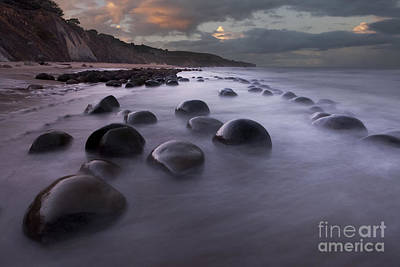 Bowling Ball Beach At Sunrise Poster by Keith Kapple