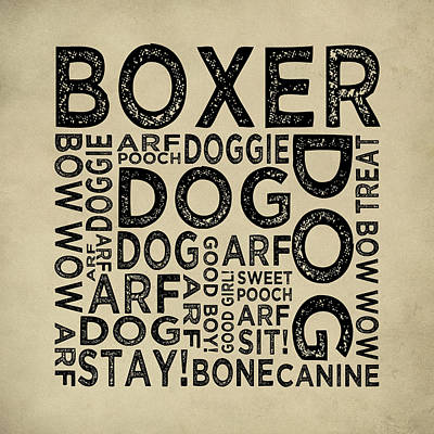 Boxer Typography Poster by Flo Karp
