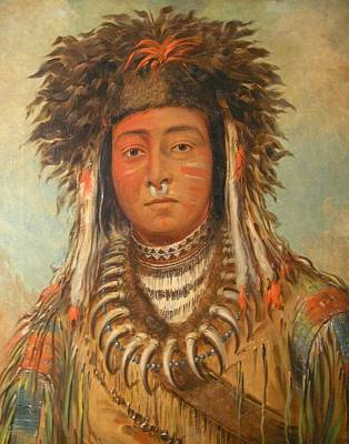 Boy Chief Ojibbeway Poster by George Catlin