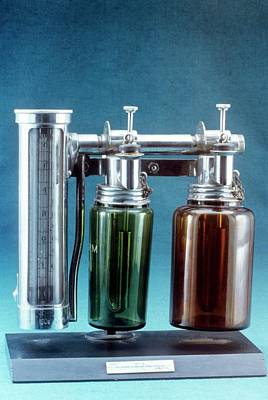 Boyle's Apparatus For Anaesthesia Poster by Science Photo Library