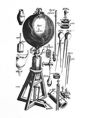 Boyle's Vacuum Pump Poster by Emilio Segre Visual Archives/american Institute Of Physics