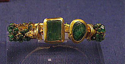 Bracelet With Emeralds Poster by Andonis Katanos