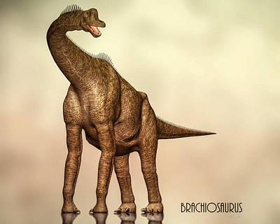 Brachiosaurus Dinosaur Poster by Bob Orsillo