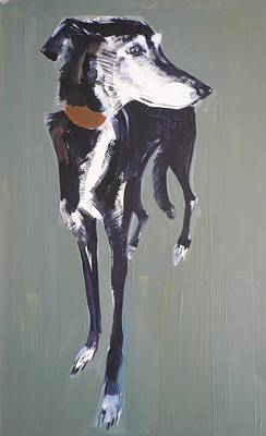 Bradley Lurcher, 2011 Oil On Paper Poster by Sally Muir