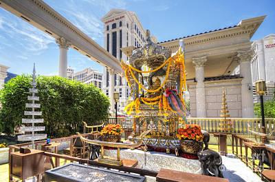 Brahma Shrine At Caesars Poster by Yhun Suarez