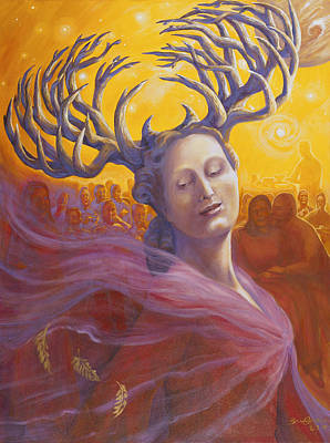 Branching Woman Poster by Brenda Ferrimani