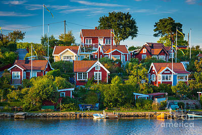 Brandaholm Cottages Poster by Inge Johnsson