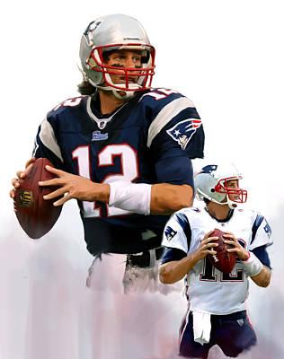 Brady II  Tom Brady Poster by Iconic Images Art Gallery David Pucciarelli