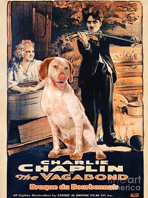 Braque Du Bourbonnais Art Canvas Print -  The Vagabond Movie Poster  Poster by Sandra Sij