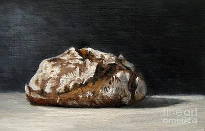 Lebensmittel Poster featuring the painting Bread by Ulrike Miesen-Schuermann
