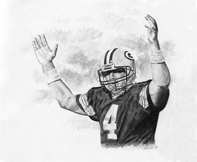 Bret Favre Poster by Timothy Ramos