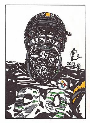Brett Keisel 2 Poster by Jeremiah Colley