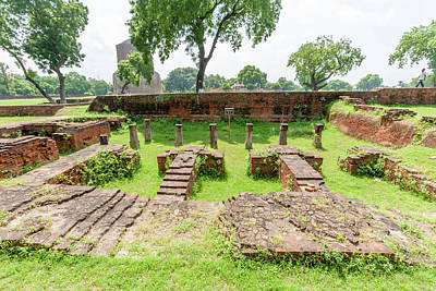 Brick And Stone Remains In Sarnath Poster by Ali Kabas