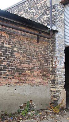 Brick Building Stop Poster by Anita Burgermeister