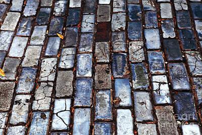 Brick Street Poster by John Rizzuto