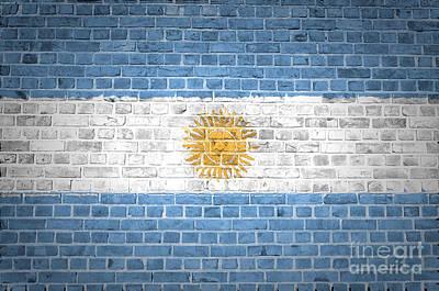 Brick Wall Argentina Poster by Antony McAulay