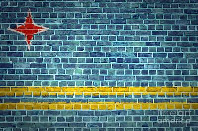 Brick Wall Aruba Poster by Antony McAulay