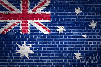 Brick Wall Australia Poster by Antony McAulay