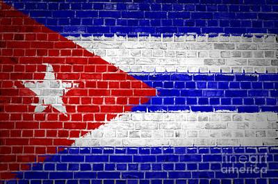 Brick Wall Cuba Poster by Antony McAulay
