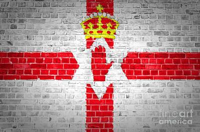 Brick Wall Northern Ireland Poster by Antony McAulay