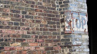 Brick Wall Stop Close Up Poster by Anita Burgermeister
