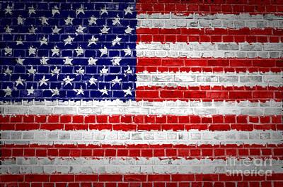 Brick Wall United States Poster by Antony McAulay
