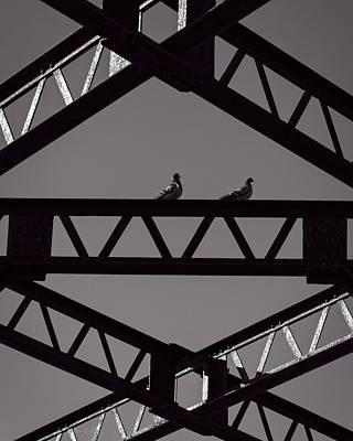 Bridge Abstract Poster by Bob Orsillo