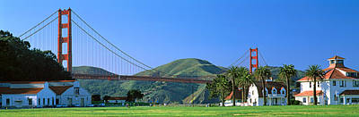 Bridge Viewed From A Park, Golden Gate Poster by Panoramic Images