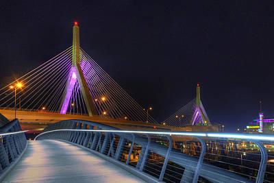 Bridges - Zakim Bridge Boston Poster by Joann Vitali