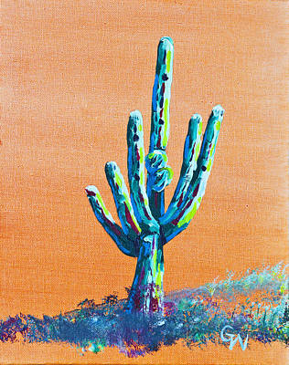 Bright Cactus Poster by Greg Wells